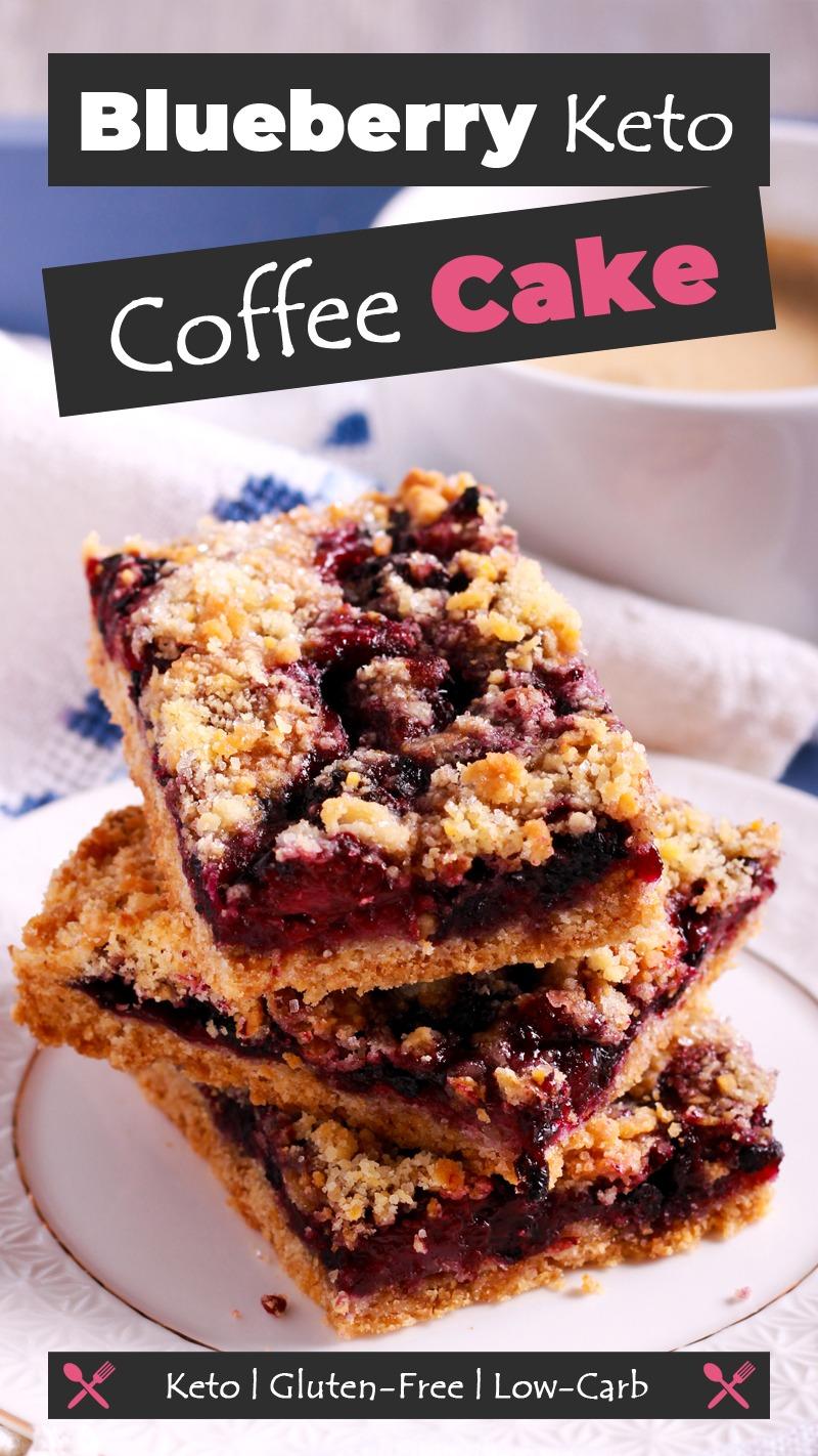 Blueberry Keto Coffee Cake